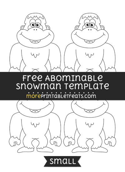 Free Abominable Snowman Template - Small