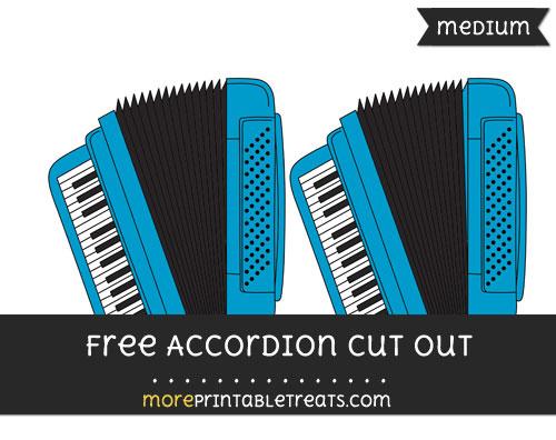 Free Accordion Cut Out - Medium