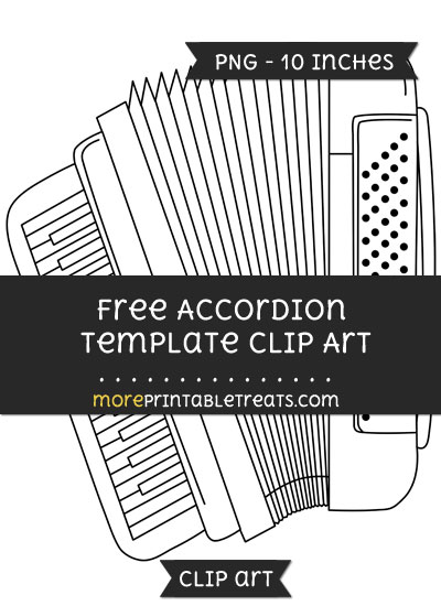Free Accordion Template - Clipart