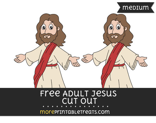 Free Adult Jesus Cut Out - Medium