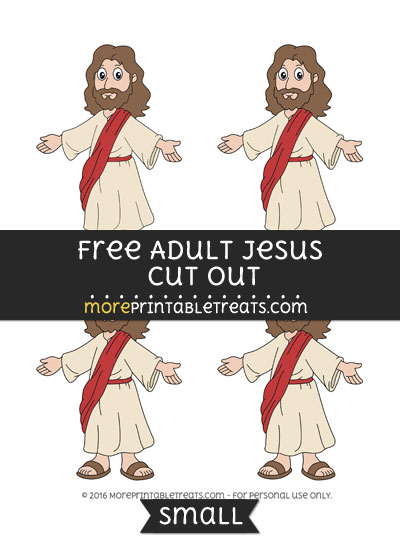 Free Adult Jesus Cut Out -Small