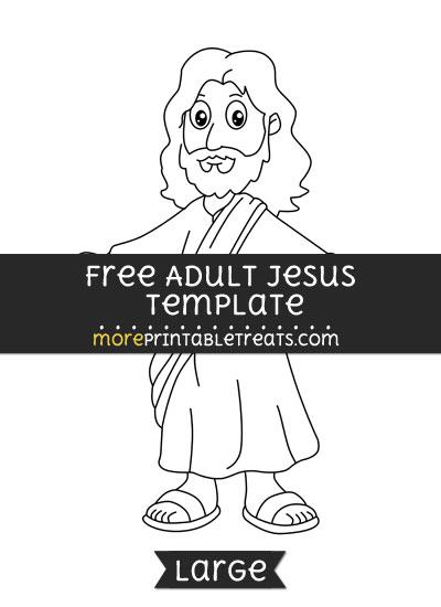 Free Adult Jesus Template - Large