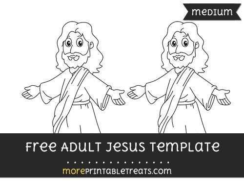 Free Adult Jesus Template - Medium