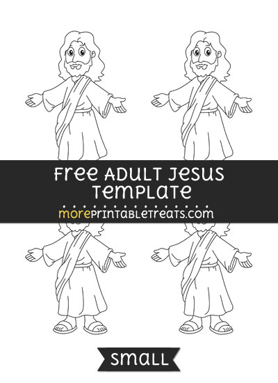 Free Adult Jesus Template - Small