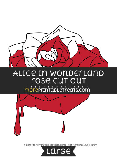 Free Alice In Wonderland Half Painted Rose Cut Out - Large