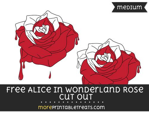Free Alice In Wonderland Half Painted Rose Cut Out - Medium