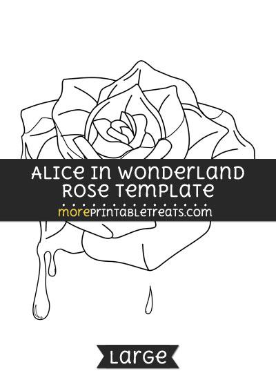 Free Alice In Wonderland Rose Template - Large