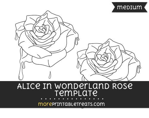 Free Alice In Wonderland Rose Template - Medium
