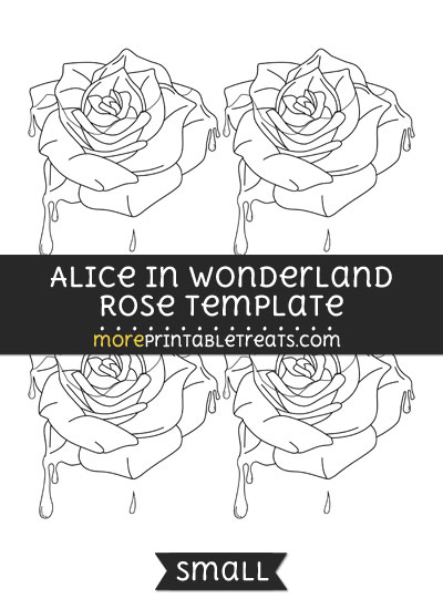 Free Alice In Wonderland Rose Template - Small