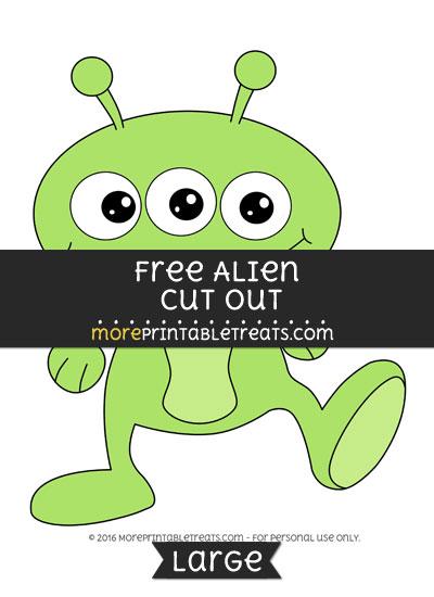 Free Alien Cut Out - Large