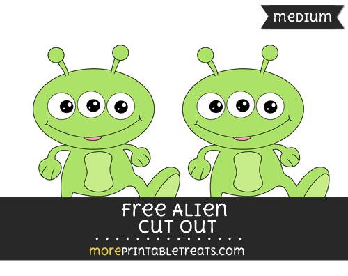 Free Alien Cut Out - Medium
