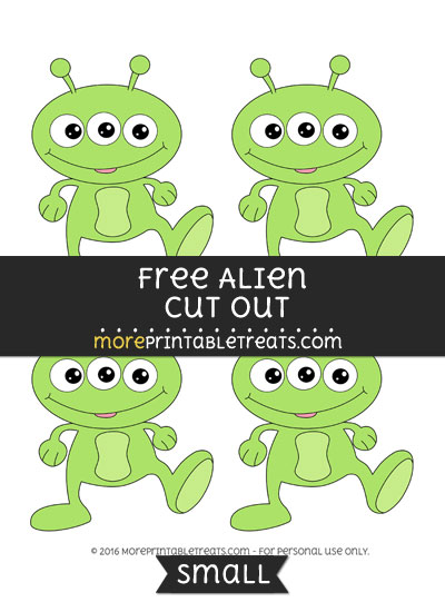 Free Alien Cut Out -Small