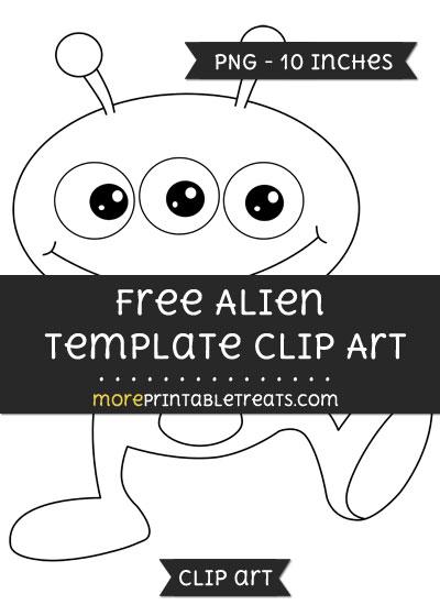 Free Alien Template - Clipart