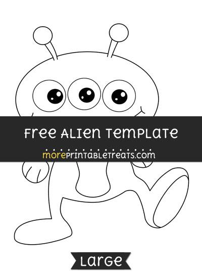 Free Alien Template - Large