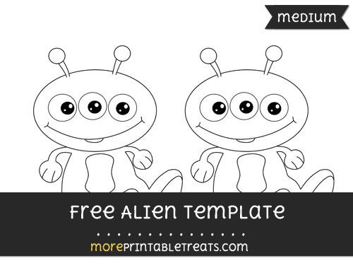 Free Alien Template - Medium