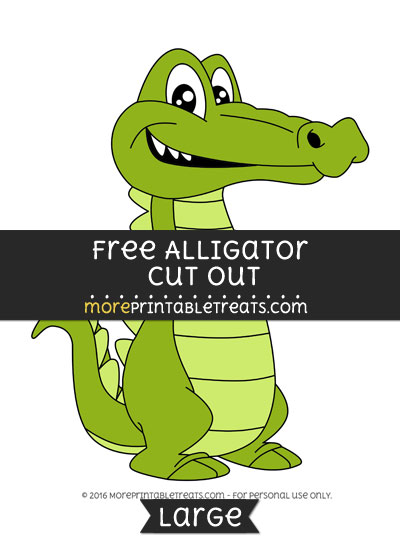 Free Alligator Cut Out - Large