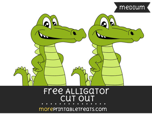 Free Alligator Cut Out - Medium