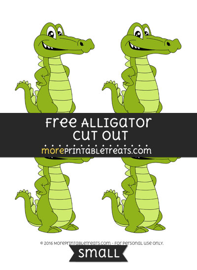 Free Alligator Cut Out -Small