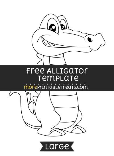 Free Alligator Template - Large