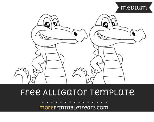 Free Alligator Template - Medium