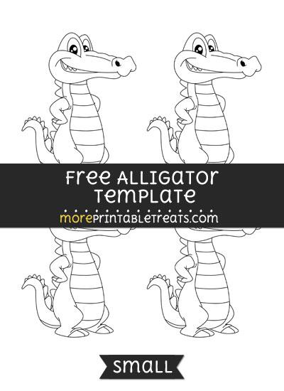 Free Alligator Template - Small
