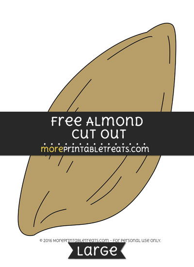 Free Almond Cut Out - Large