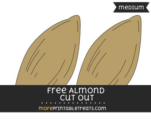 Free Almond Cut Out - Medium