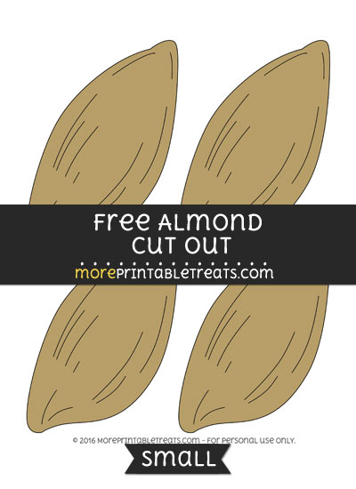 Free Almond Cut Out -Small