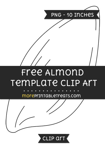 Free Almond Template - Clipart