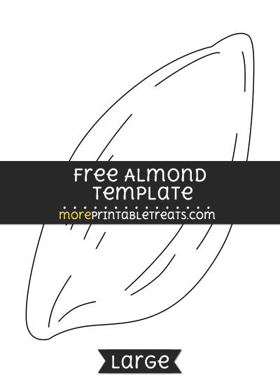 Free Almond Template - Large