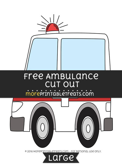 Free Ambulance Cut Out - Large