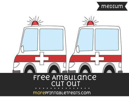 Free Ambulance Cut Out - Medium