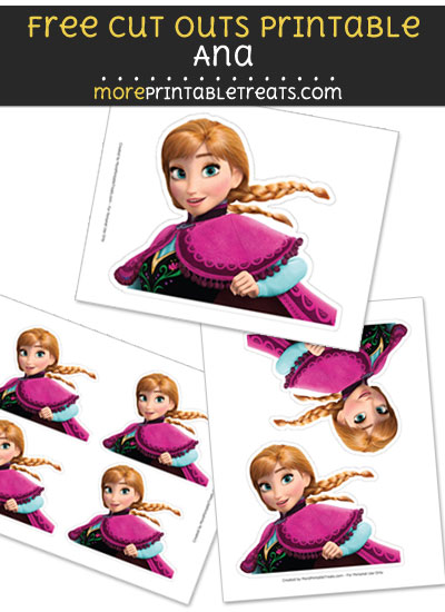 Free Ana Cut Out Printable with Dotted Lines - Frozen