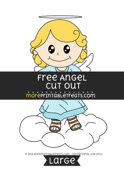 Free Angel Cut Out - Large