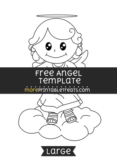 Free Angel Template - Large