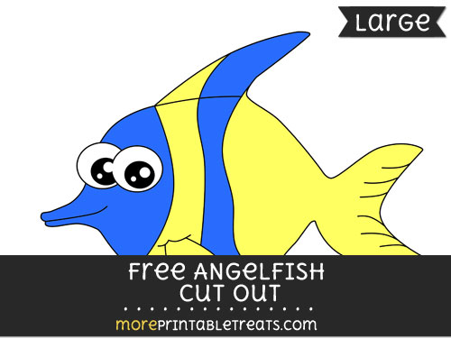 Free Angelfish Cut Out - Large