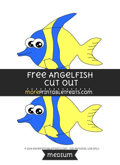 Free Angelfish Cut Out - Medium