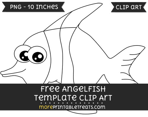 Free Angelfish Template - Clipart