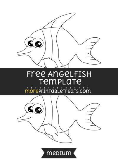 Free Angelfish Template - Medium