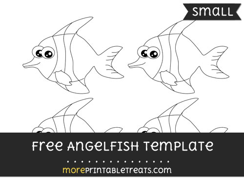Free Angelfish Template - Small