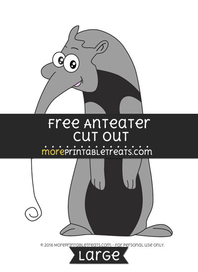 Free Anteater Cut Out - Large