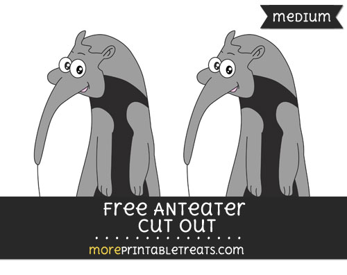 Free Anteater Cut Out - Medium