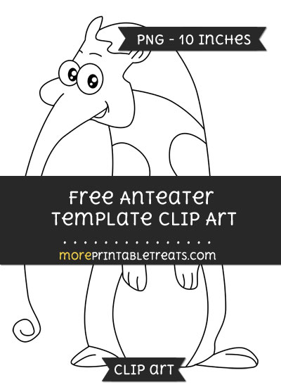 Free Anteater Template - Clipart