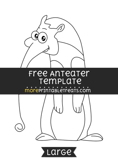 Free Anteater Template - Large