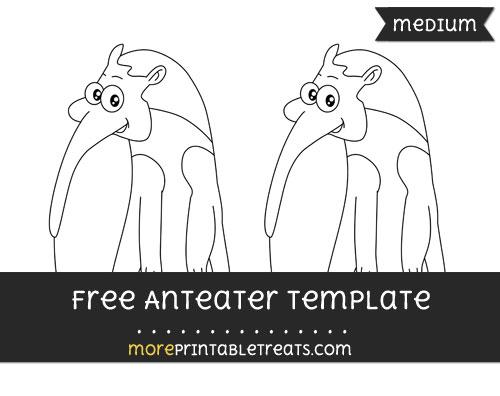 Free Anteater Template - Medium