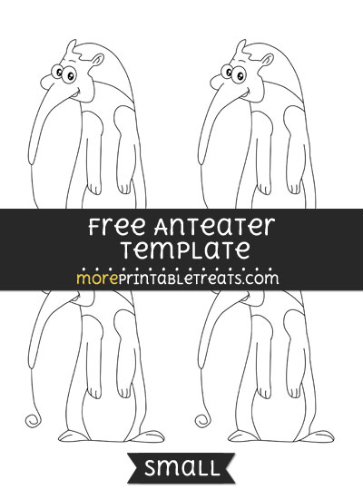 Free Anteater Template - Small