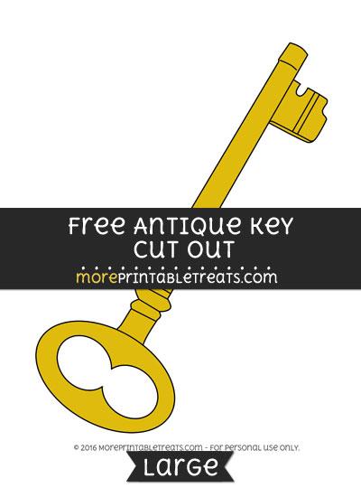 Free Antique Key Cut Out - Large