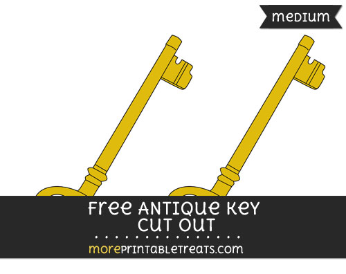 Free Antique Key Cut Out - Medium