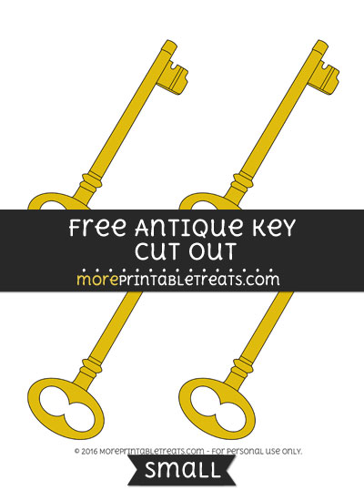 Free Antique Key Cut Out -Small