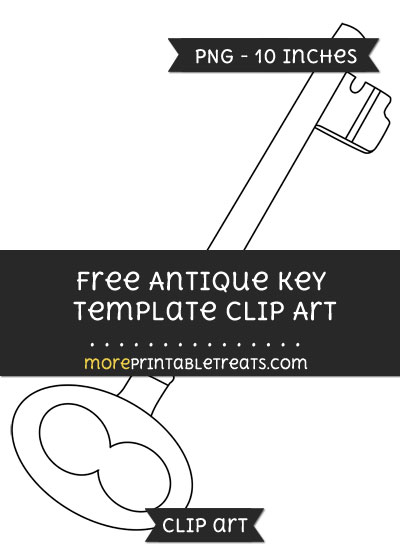 Free Antique Key Template - Clipart